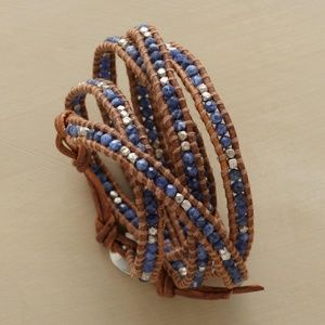 New Sundance Catalog Bead & Leather Bracelet